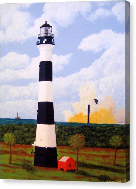 Missles Canvas Print - Cape Canaveral Lighthouse by Frederic Kohli