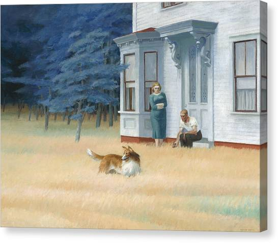 Autumn Scene Canvas Print - Cape Cod Evening by Edward Hopper
