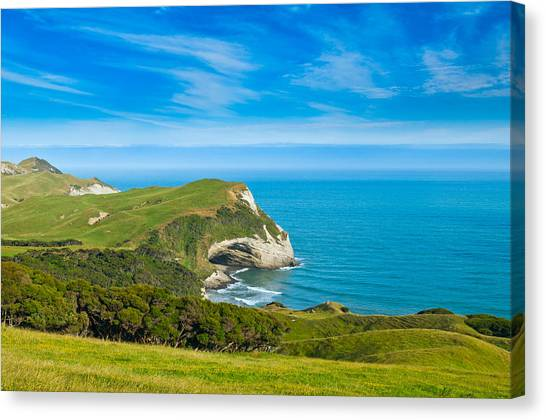 Cape Farewell Able Tasman National Park Canvas Print