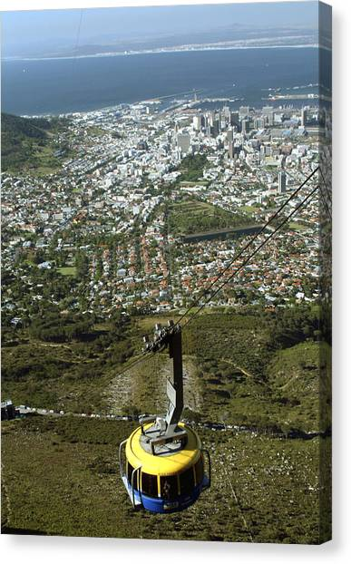 Capetown Cablecar Canvas Print by Charles  Ridgway