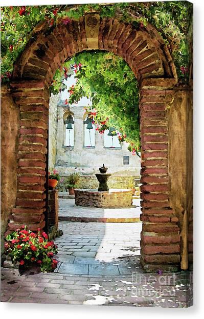 Capistrano Gate Canvas Print