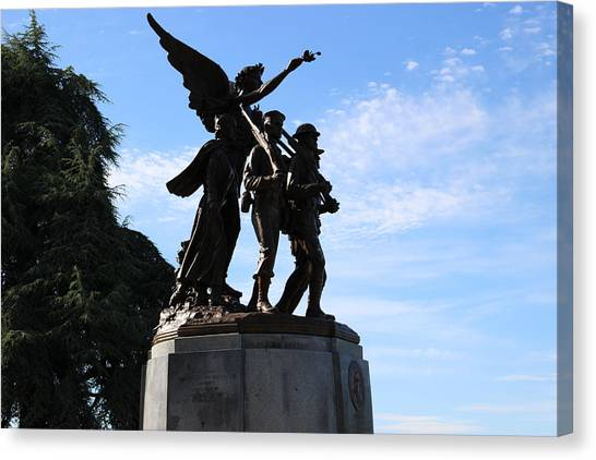 Washington Capitals Canvas Print - Capital Hill, Olympia Washington Statue by Zachary Lowery