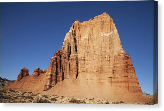 Capitol Reef National Park Temple Of The Sun Canvas Print by Mark Smith