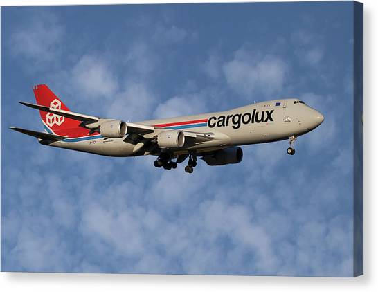 Jets Canvas Print - Cargolux Boeing 747-8r7 1 by Smart Aviation