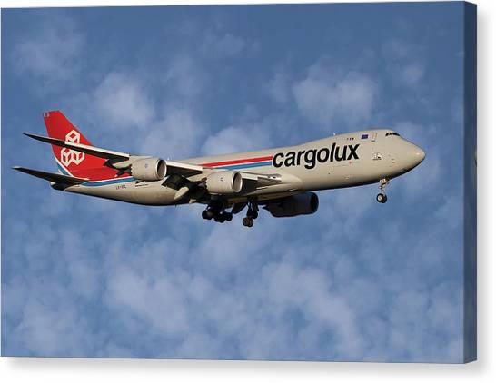 Jet Canvas Print - Cargolux Boeing 747-8r7 1 by Smart Aviation