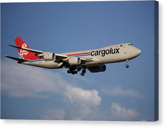 Jet Canvas Print - Cargolux Boeing 747-8r7 4 by Smart Aviation