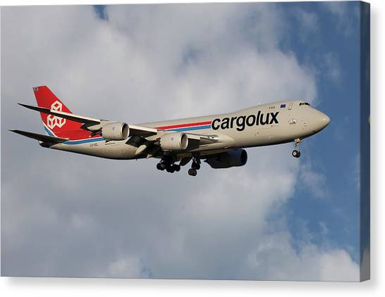 Jets Canvas Print - Cargolux Boeing 747-8r7 5 by Smart Aviation