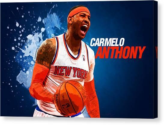Dwight Howard Canvas Print - Carmelo Anthony by Semih Yurdabak
