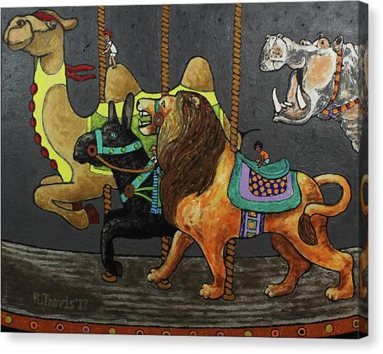 Canvas Print - Carousel Kids 2 by Rich Travis