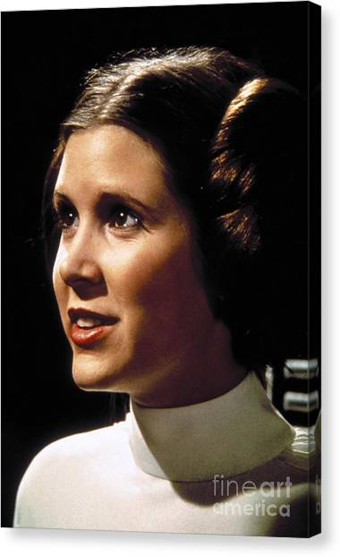 Leia Organa Canvas Print - Carrie Fisher As Star Wars Character Princess Leia  by The Titanic Project