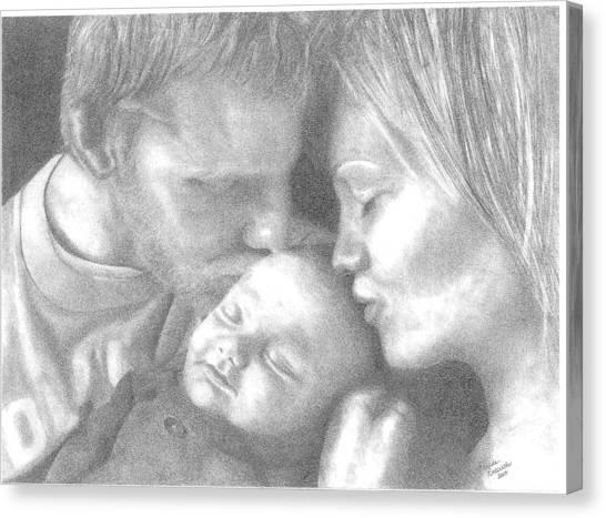 Cassiday Family 1  Canvas Print by Rhonda  Rodericks