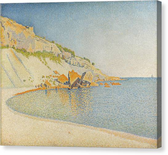 Divisionism Canvas Print - Cassis, Cap Lombard, Opus 196 by Paul Signac