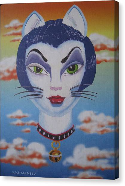 Cat Ho Canvas Print by Roger Golden