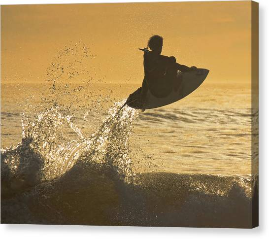 Catching Air Canvas Print