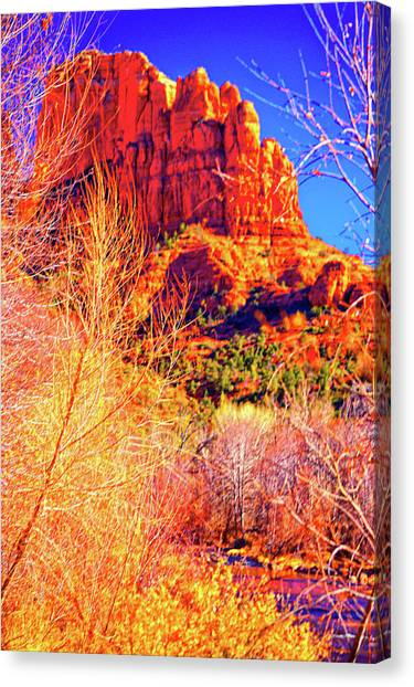Cathedral Rock Canvas Print by Paul Kloschinsky