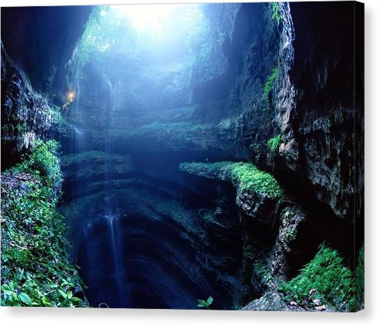 Ice Caves Canvas Print - Cave by Super Lovely