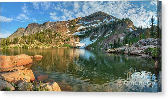Canvas Print featuring the photograph Cecret Lake by Spencer Baugh