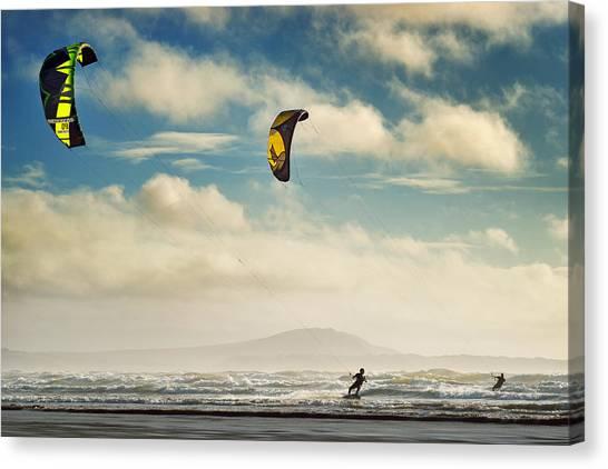 Cefn Sidan Beach 1 Canvas Print