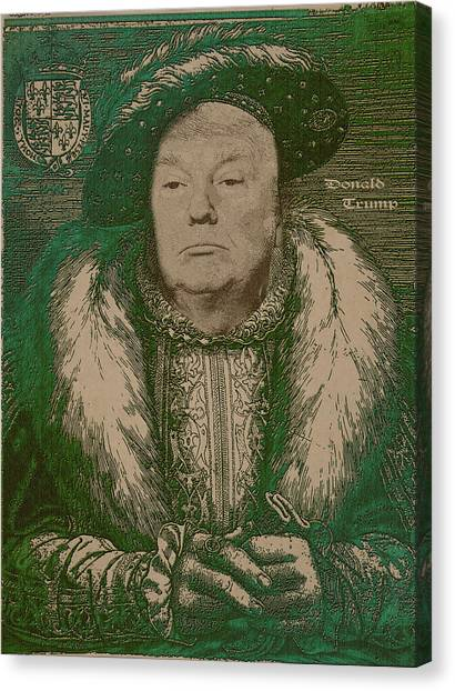 Celebrities Canvas Print - Celebrity Etchings - Donald Trump by Serge Averbukh
