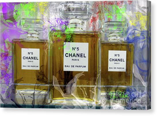 Jimmy Choo Canvas Print - Chanel No 5 by To-Tam Gerwe