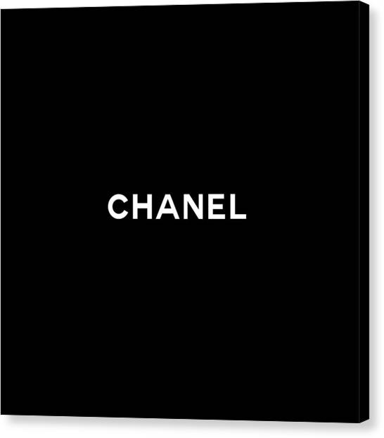 Black And White Canvas Print - Chanel by Tres Chic