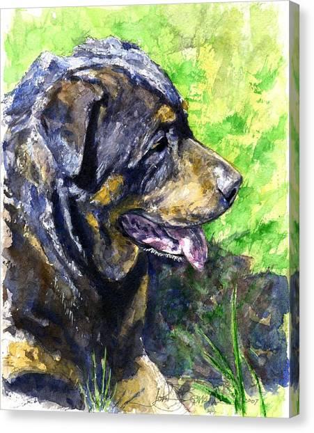 Rottweilers Canvas Print - Chaos by John D Benson