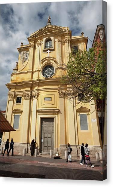 Chapelle De La Misericorde In Nice Canvas Print by Artur Bogacki