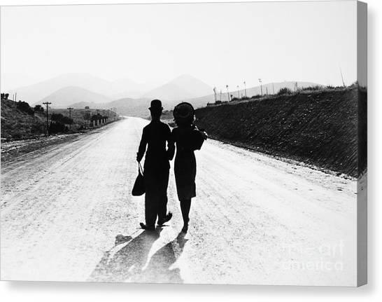 Dirt Road Canvas Print - Modern Times 1936 by Granger
