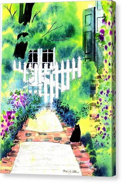 Charleston Gate Canvas Print by Melody Allen