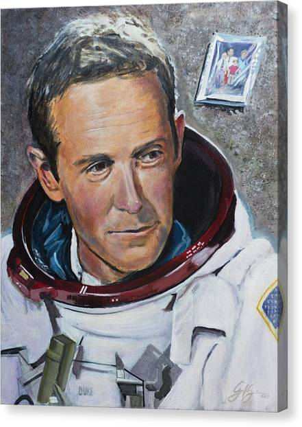 Duke University Canvas Print - Charlie Duke by Simon Kregar