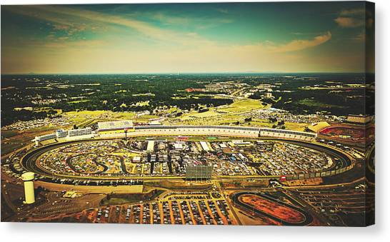 Stock Cars Canvas Print - Charlotte Motor Speedway by Library Of Congress