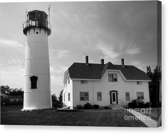 Chatham Canvas Print - Chatham Lighthouse Ma by Skip Willits