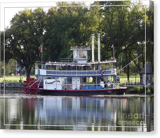 Canvas Print featuring the photograph Chautauqua Belle On Lake Chautauqua by Rose Santuci-Sofranko