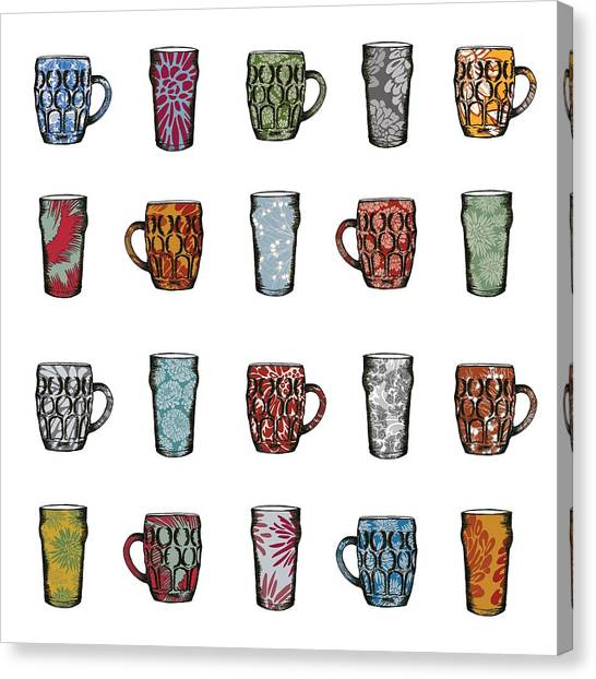 Pint Glass Canvas Print - Cheers by Sarah Hough