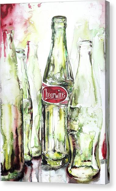 Cheerwine Canvas Print - Cheerwine by Jamie Hansen