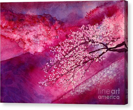 Tree Blossoms Canvas Print - Cherry Blossoms by Hailey E Herrera