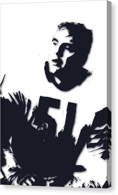Dick Butkus Canvas Print - Chicago Bears Dick Butkus by Joe Hamilton