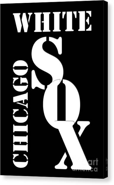 Chicago White Sox Canvas Print - Chicago White Sox Typography by Drawspots Illustrations