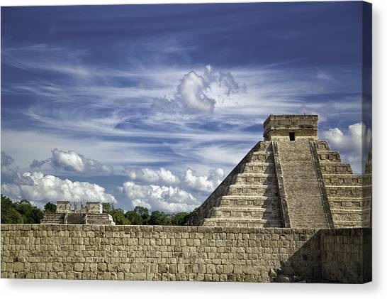Chichen Itza, El Castillo Pyramid Canvas Print