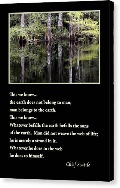 Chief Seattle Canvas Print