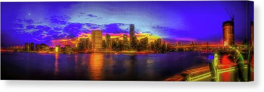 Canvas Print featuring the photograph Chillin' At Gantry by Theodore Jones