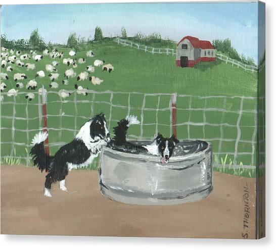 Chillin' Canvas Print by Sue Ann Thornton