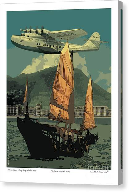 Junk Canvas Print - China Clipper by Kenneth De Tore