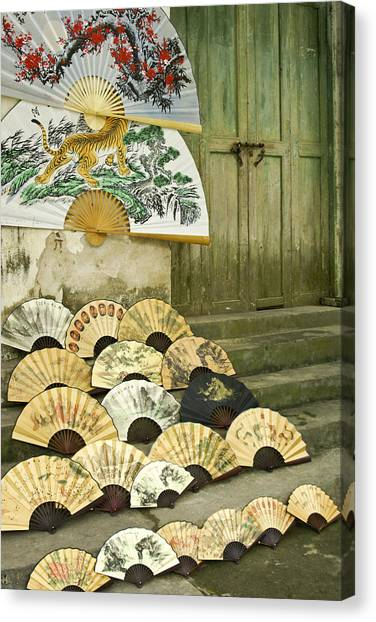 Chinese Fans Canvas Print