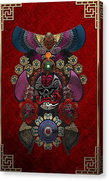 Asian Canvas Print - Chinese Masks - Large Masks Series - The Demon by Serge Averbukh