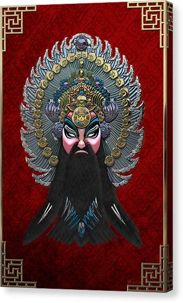 Retro Decor Canvas Print - Chinese Masks - Large Masks Series - The Emperor by Serge Averbukh