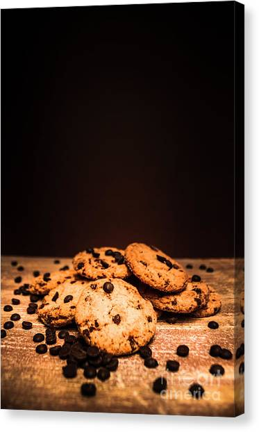 Bakery Canvas Print - Choc Chip Biscuits by Jorgo Photography - Wall Art Gallery