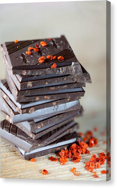 Black Tie Canvas Print - Chocolate And Chili by Nailia Schwarz