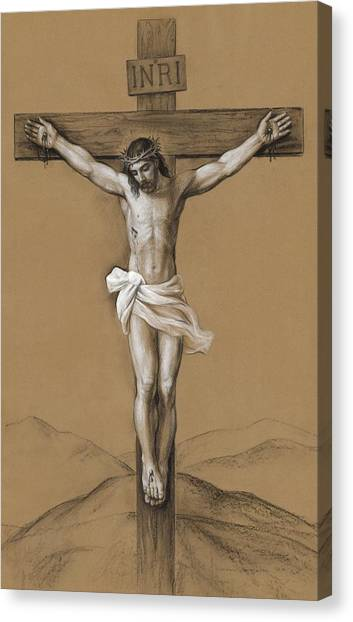 God Canvas Print - Christ Crucified by Svitozar Nenyuk