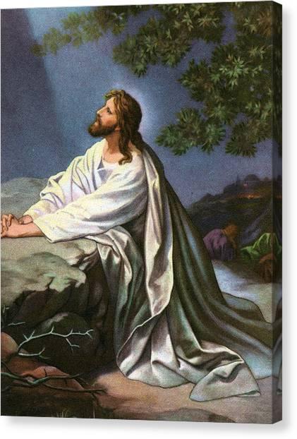 Messiah Canvas Print - Christ In The Garden Of Gethsemane by Heinrich Hofmann